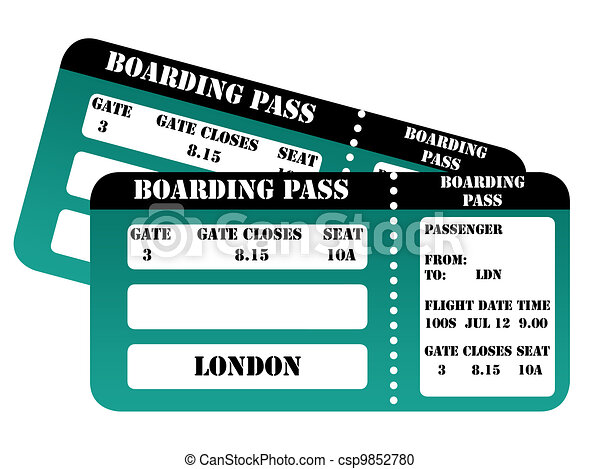 London 2012 Boarding Passes London 2012 Boarding Pass Isolated On