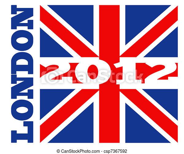 London 2012 British Union Jack Flag