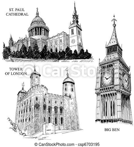 London architectural symbols - csp6703195