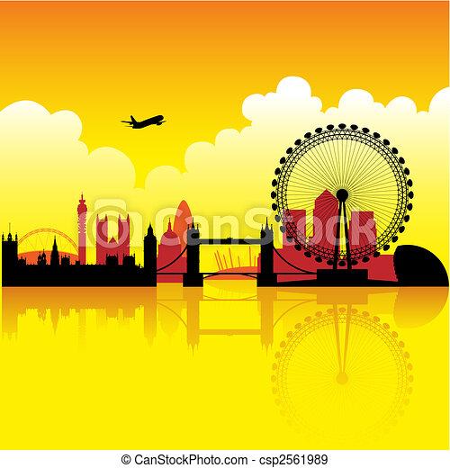 London at dusk - csp2561989