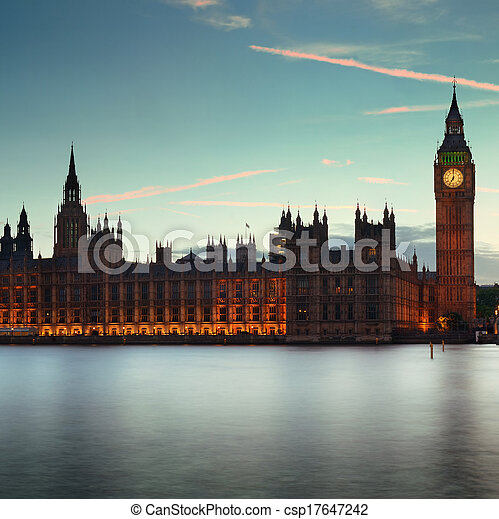 London at dusk - csp17647242