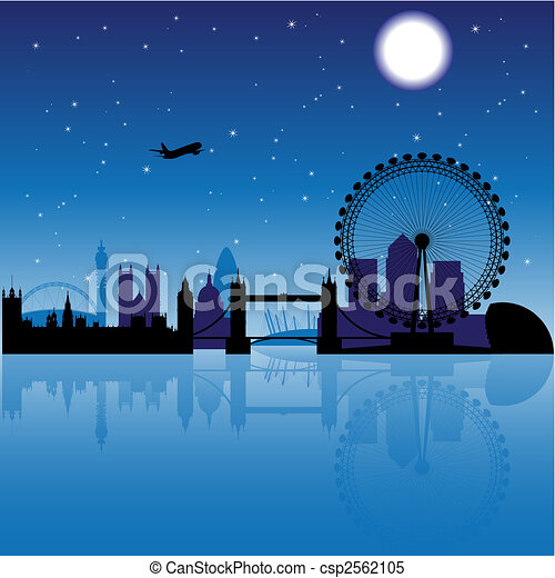 London at night - csp2562105