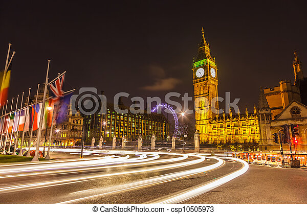London at night - csp10505973