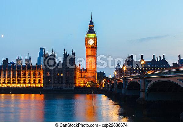 London At Night Big Ben And House Of Parliament At Night London Uk