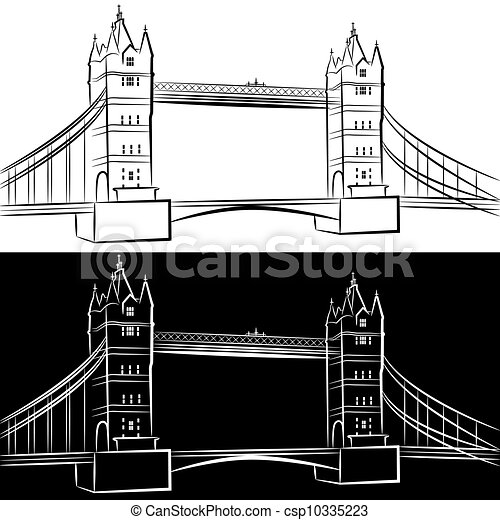 London Bridge Drawing - csp10335223