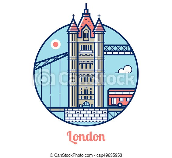 London Bridge Icon - csp49635953