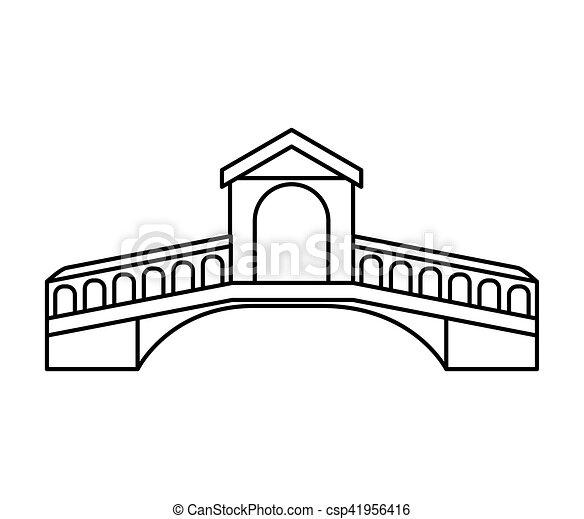 london bridge isolated icon - csp41956416