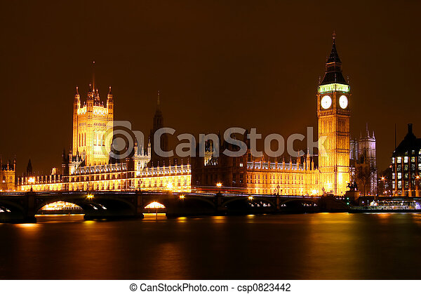 London by night - csp0823442