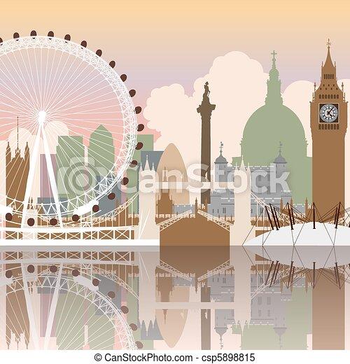 London Cityscape - csp5898815