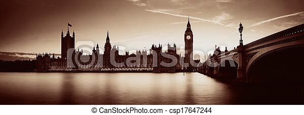 london, dämmerung - csp17647244