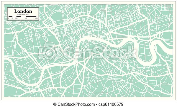London England City Map.London England City Map In Retro Style Outline Map