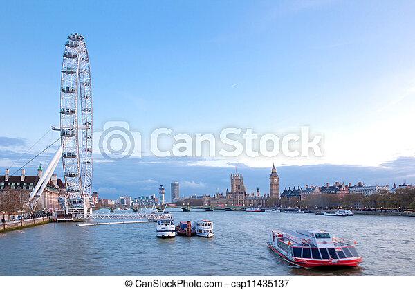 London Eye England - csp11435137
