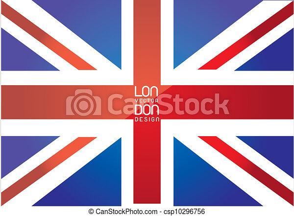 London Flag Background Vector Illustration