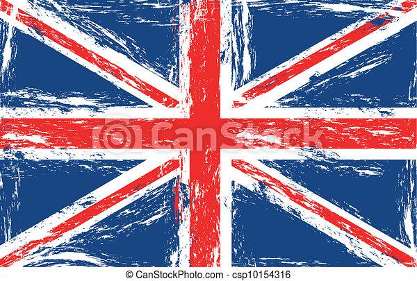 London Grunge Flag Vector Illustration