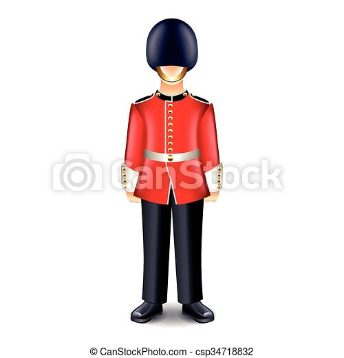 London Guard Isolated Vector