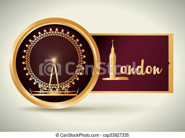 London icon design  - csp33927335