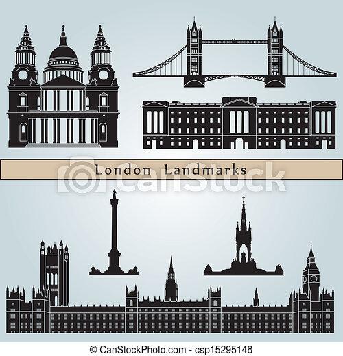 London landmarks and monuments - csp15295148