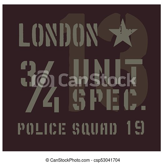 London military plate design - csp53041704