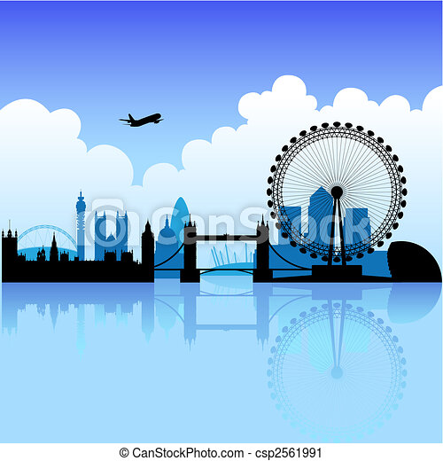 London on a bright day - csp2561991