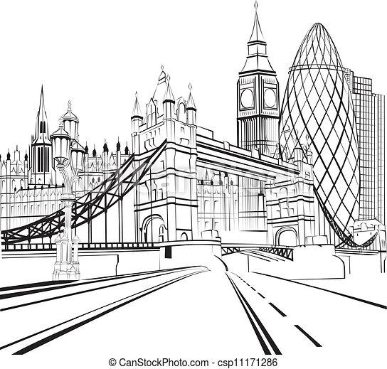 london, skicc, árnykép - csp11171286