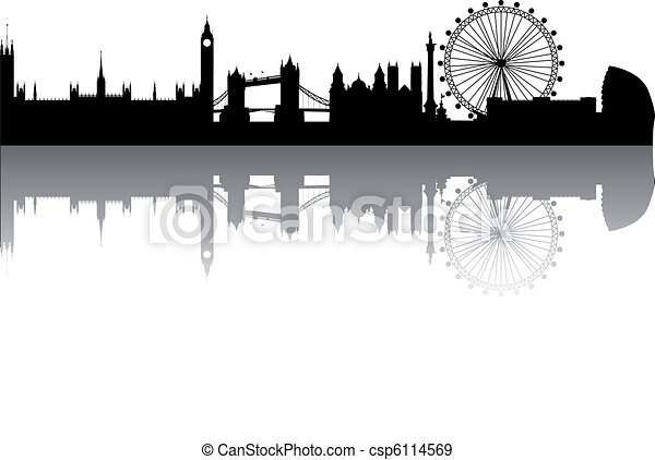 London Skyline Abstract On White Background