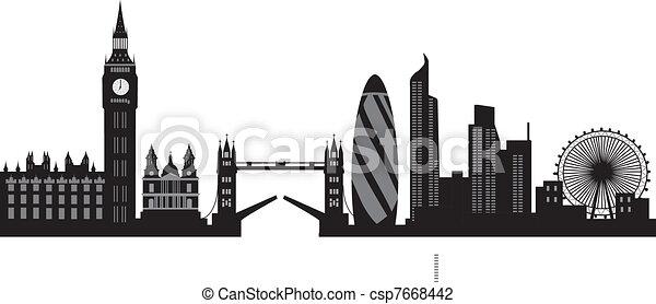 london skyline - csp7668442