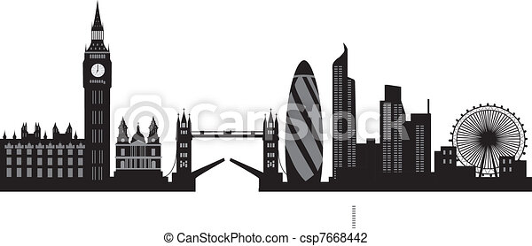 London Skyline Vector Illustration