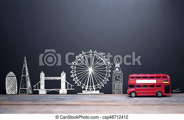 London skyline landmarks - csp48712412