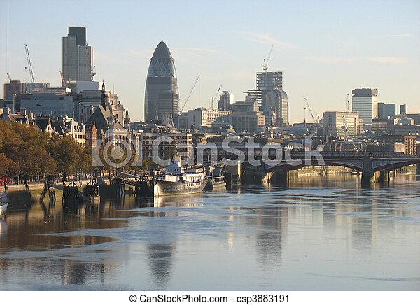 London skyline - csp3883191