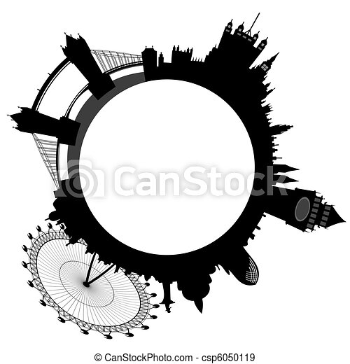 London skyline - rings - vector - csp6050119