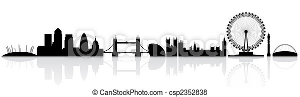 London Silhouette Skyline A Simple Of The