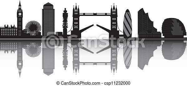 london skyline - csp11232000
