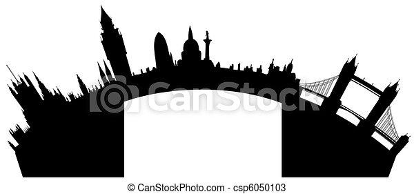 London skyline - vector - csp6050103