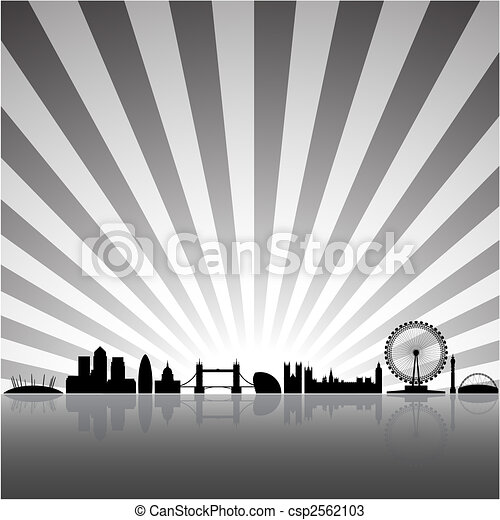 London sunny background - csp2562103