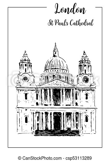 St pauls cathedral london sketch #2