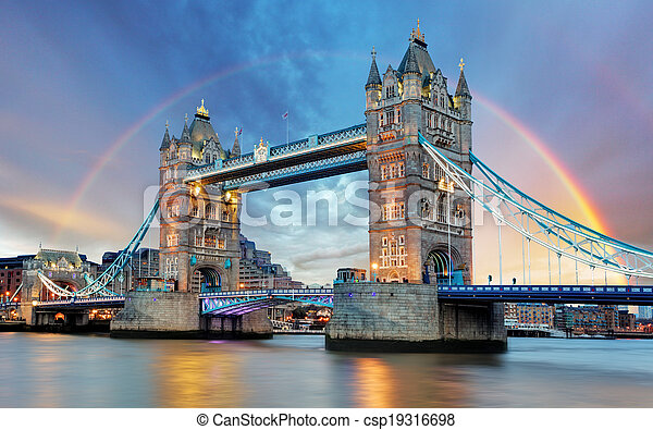 London Tower bridge - csp19316698