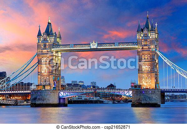 London - Tower bridge, UK - csp21652871