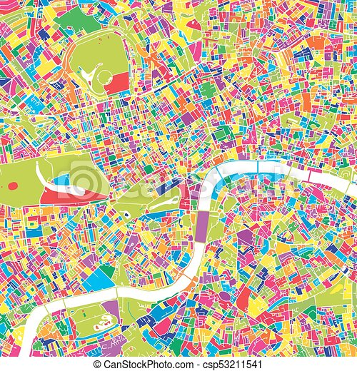 london united kingdom colorful vector map