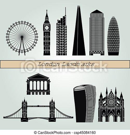 London V2 Landmarks - csp45084160