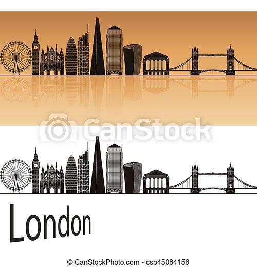London V2 Skyline - csp45084158