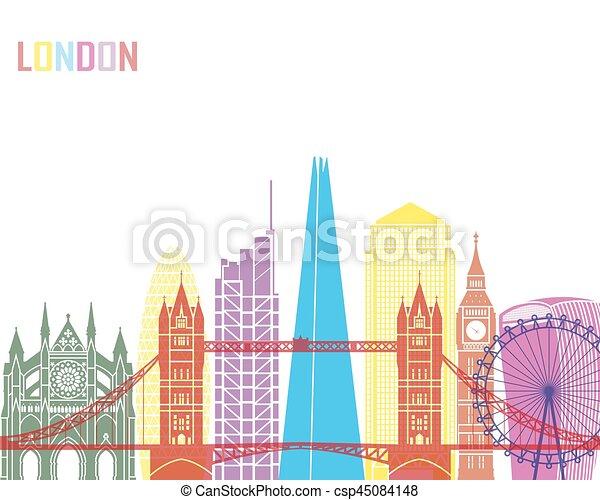 London V2 skyline pop - csp45084148