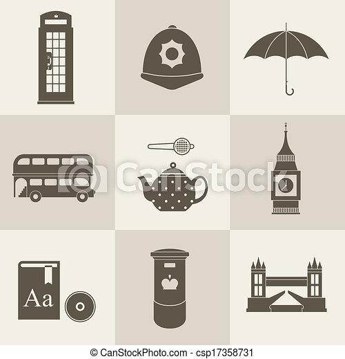 London vintage icons - csp17358731