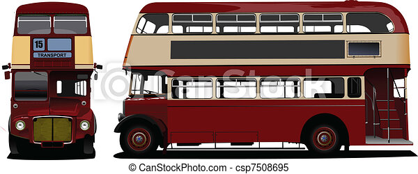 londra, decker, doppio, rosso, bus., vec - csp7508695
