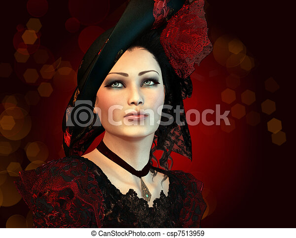 londres, moda, senhora - csp7513959