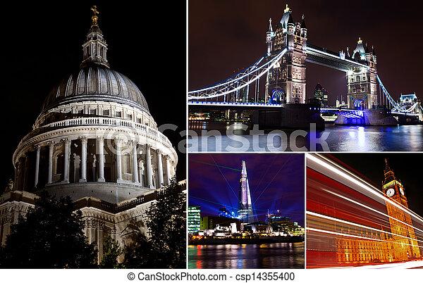 Londres por la noche - csp14355400