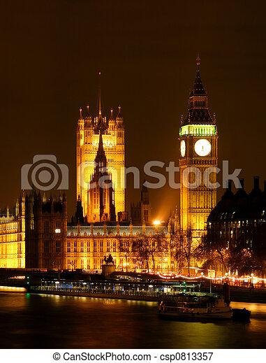 Londres de noche - csp0813357