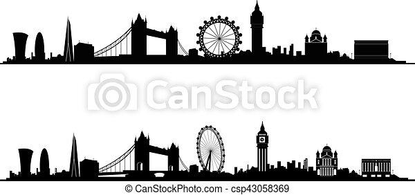 Silueta del horizonte de Londres - csp43058369