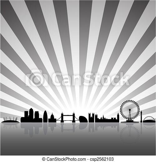London soleado fondo - csp2562103