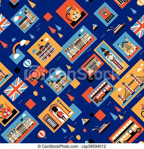 Londres viaja sin costuras - csp39594012