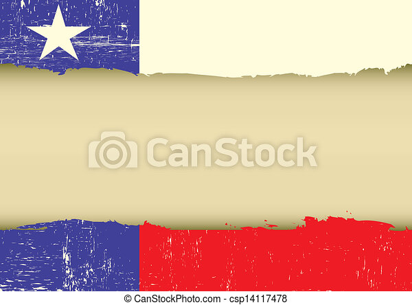 Lone Star Flag scratched flag - csp14117478